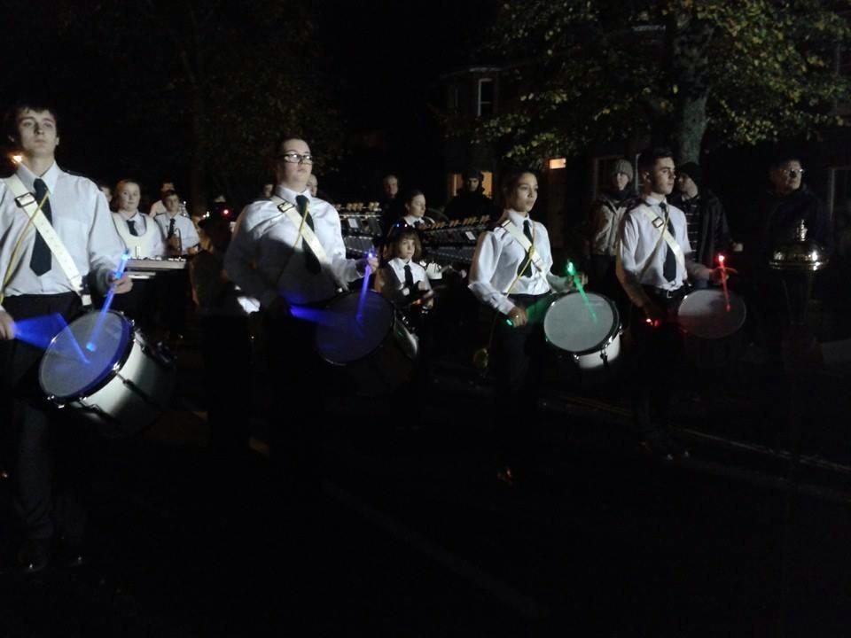 Flashy sticks at Burgess Hill Bonfire 2013
