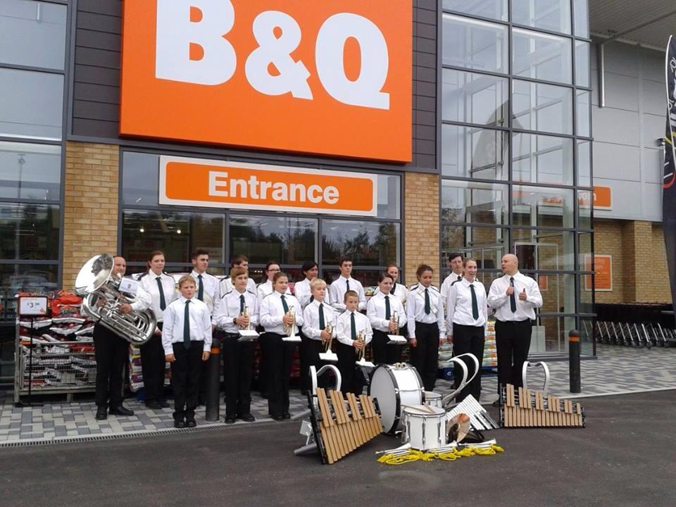 We played at the grand opening of the new B&Q in Burgess Hill