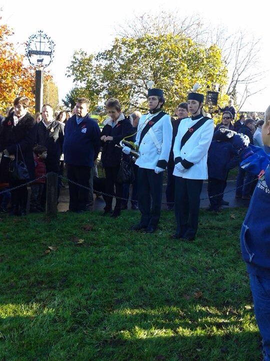 An important day in the calendar, our bugler at Ditchling Remembrance Day