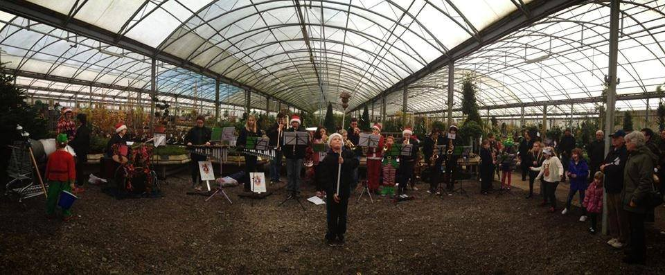 Playing carols at the South Downs Nurseries and Garden Center - 2013